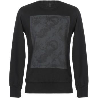 《9/20まで! 限定セール開催中》MESSAGERIE メンズ スウェットシャツ ブラック XL コットン 100%