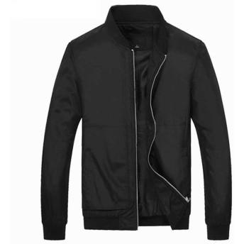 ブルゾン メンズ ジャケット ジャンパー カジュアル 長袖 スタンドカラー 秋冬 2018新作 パーカー 防寒 大サイズ ブラック ブルー レッド