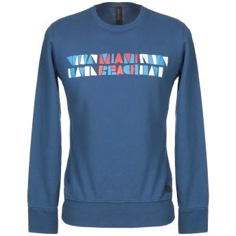 《9/20まで! 限定セール開催中》MESSAGERIE メンズ スウェットシャツ ブルー S コットン 100%