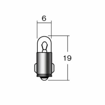 取寄 白熱電球 口金球 1P7113GR 12V3 4W BA9S グリーン M&H