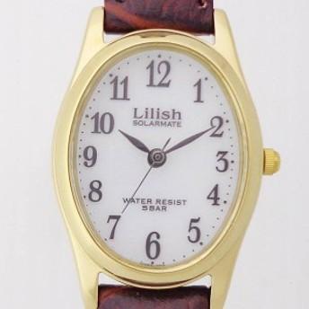 シチズン時計 リリッシュ Lilish【H053-104】SOLARMATE 楕円型3針 ソーラー レディス 腕時計 革 ウォッチ 電池交換不要 スタイリッシュ