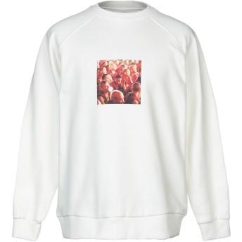 《9/20まで! 限定セール開催中》BONSAI メンズ スウェットシャツ ホワイト L コットン 90% / ポリエステル 10%