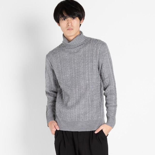 ニット・セーター - WEGO【MEN】 ケーブルタートルニット BS18WN11-M007