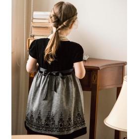 9f9d7546b3097 フォーマルドレス - Catherine Cottage 子供ドレス 発表会 女の子 アリスフロッキープリントのベロアワンピース