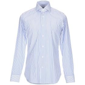 《送料無料》GUGLIELMINOTTI メンズ シャツ アジュールブルー 41 コットン 100%