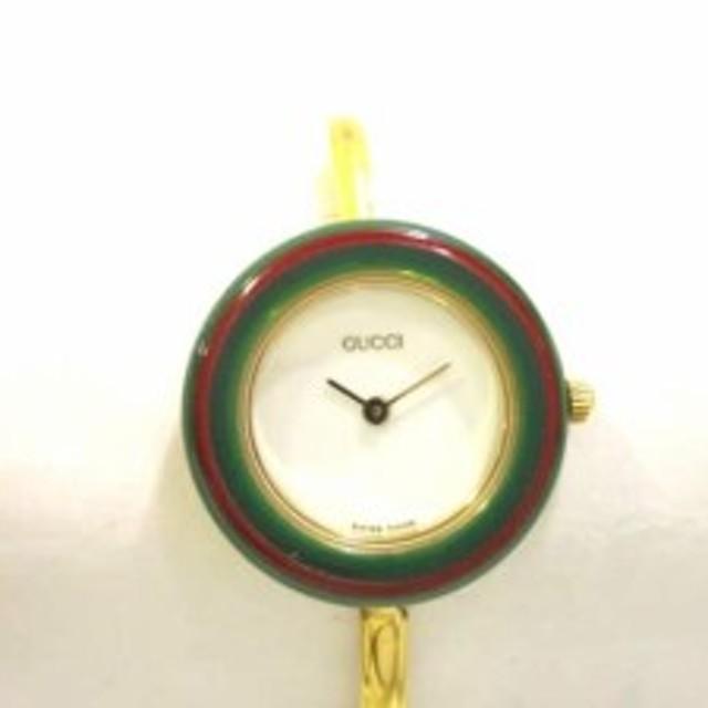 64330f0c5248 グッチ GUCCI 腕時計 ベゼルウォッチ 11/12.2 レディース 白【中古 ...
