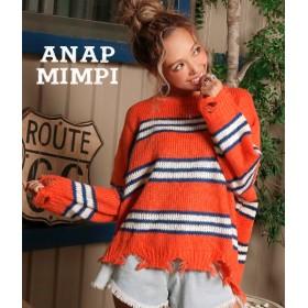 【セール開催中】ANAP(アナップ)ボーダークラッシュニットトップス
