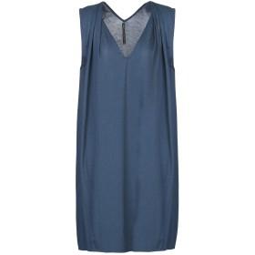 《セール開催中》MANILA GRACE レディース ミニワンピース&ドレス ブルー 1 テンセル 67% / コットン 33%