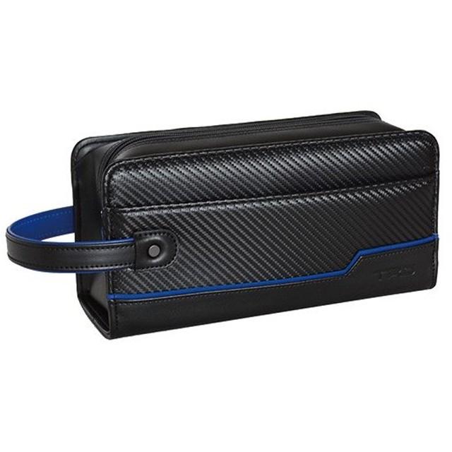 ティーアールディー(TRD) C-Blue カーボン柄 スクエアポーチ 黒 083920001 クラッチバッグ セカンドバッグ バッグ 鞄