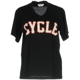 《セール開催中》CYCLE レディース T シャツ ブラック XS 100% コットン
