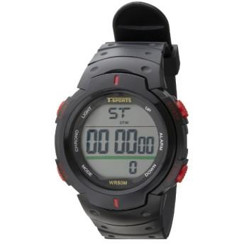 TELVA デジタルウォッチ ウレタンバンドモデル [メンズ腕時計 /電池式] TS-D153-RD