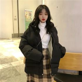 [55555SHOP] 2019年秋冬 韓国ファッション首元を閉めれば更にあったかい♪小顔効果も発揮!軽量冬服モッズコート 綿コート スリムアウター ダウンジャケット風ロングアウタレディース