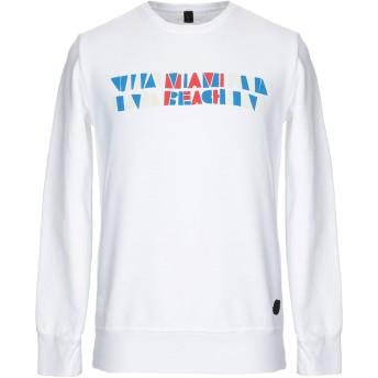 《セール開催中》MESSAGERIE メンズ スウェットシャツ ホワイト M コットン 100%