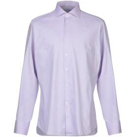 《期間限定 セール開催中》CALIBAN メンズ シャツ ライトパープル 42 コットン 100%