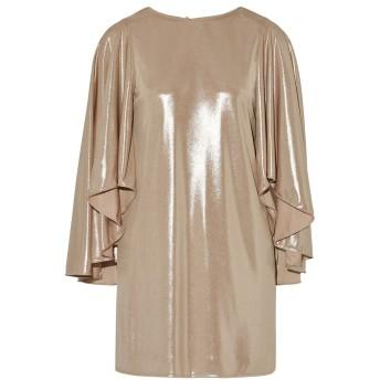 《セール開催中》HALSTON レディース ミニワンピース&ドレス ベージュ 0 ポリエステル 100%