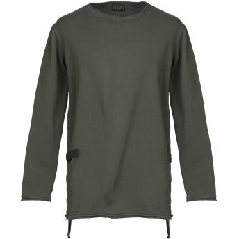 《セール開催中》OVERCOME メンズ スウェットシャツ ミリタリーグリーン S 100% コットン