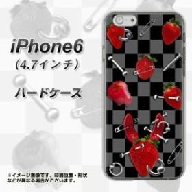 【限定特価】iPhone6 (4.7インチ) ハードケース / カバー【AG833 苺パンク(黒) 素材クリア】(アイフォン6 (4.7インチ)/IPHONE6用)