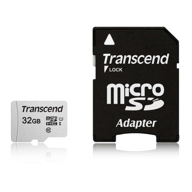【正規国内販売代理店】トランセンド 32GB UHS-I U1 microSDHCカード(変換アダプター付き) TS32GUSDC300S-A