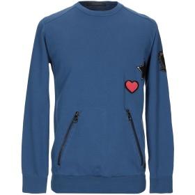 《期間限定セール開催中!》MESSAGERIE メンズ スウェットシャツ ブルー L コットン 100%