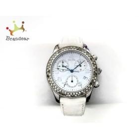 c0ee722ccca7 フォリフォリ FolliFollie 腕時計 S1360CHR レディース 型押し革ベルト/ラインストーンベゼル 白 スペシャル