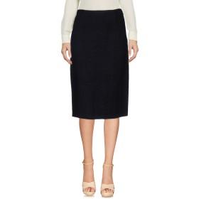 《セール開催中》ASPESI x AL DUCA D'AOSTA レディース 7分丈スカート ブラック 40 ウール 66% / 麻 18% / ナイロン 15% / コットン 1%