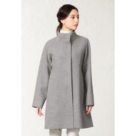 SANYO COAT <Flat-Seam COAT>ウールジャージースタンドカラーコート その他 コート,グレー