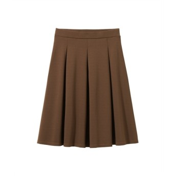 カットソータックフレアスカート(ひざ中丈) (大きいサイズレディース)スカート, plus size skirts