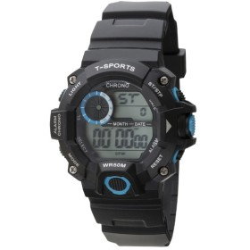 TELVA デジタルウォッチ ウレタンバンドモデル [メンズ腕時計 /電池式] TS-D156-BL