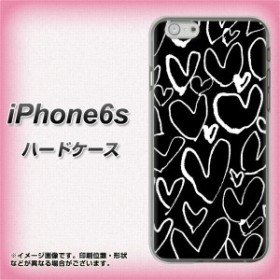 8ed7e2df13 iPhone6s ハードケース / カバー【1124 ハート BK&WH 素材クリア】(アイフォン6s/