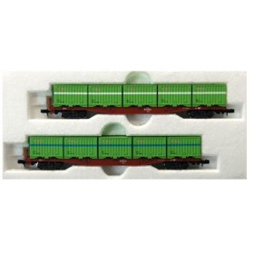 10-815 コキ50000 C20形・C21形コンテナ搭載 2両セット(再販)[KATO]《在庫切れ》
