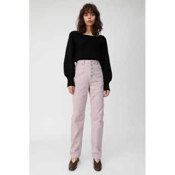 【50%OFF】 マウジー FRONT BUTTON COLOR パンツ レディース L/PUR1 1 【MOUSSY】 【セール開催中】