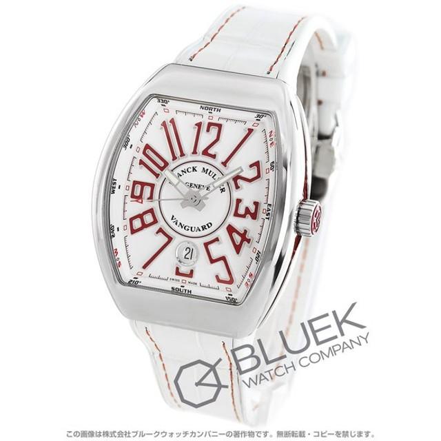 4f4a1a6a3a フランクミュラー ヴァンガード クロコレザー 腕時計 メンズ FRANCK MULLER V 41 SC DT AC RG