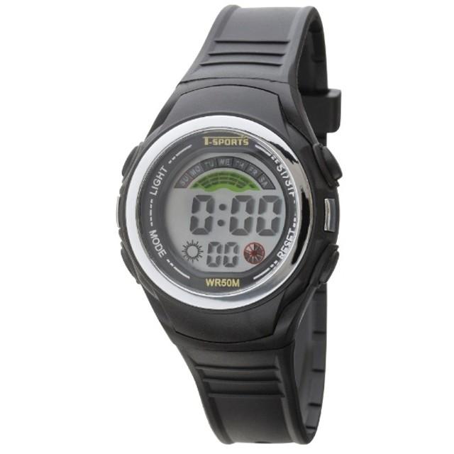 TELVA デジタルウォッチ ウレタンバンドモデル [メンズ腕時計 /電池式] TS-D158-BK