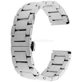 ステンレス 優雅 腕時計バンド 修理部品 高級感 交換性 全6種類 - マットシルバー, 22mm