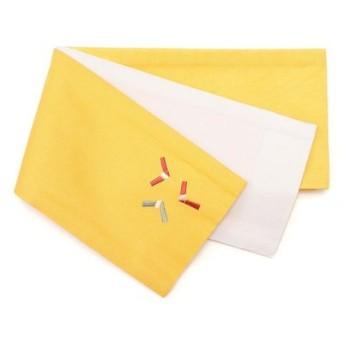 kimono cafe / リバーシブル浴衣帯 折り紙柄ワンポイント刺繍 A-95