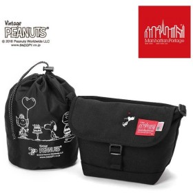 【限定モデル】【ピーナッツ スヌーピーコラボ】マンハッタンポーテージ ManhattanPortage × PEANUTS Casual Messenger Bag XS  MP1603PEANUTS18