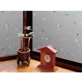 空気が抜けやすい窓飾りシート(プリントタイプ) GDP-4632 46cm丈×90cm巻 ブルー(B)