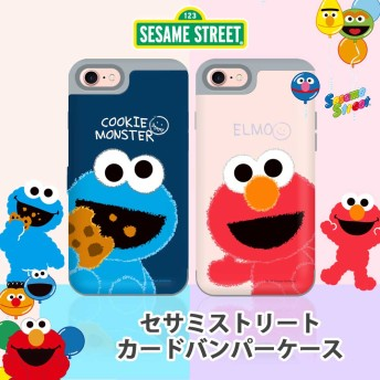 セサミストリート カードバンパー iPhoneケース iPhoneX iPhone7/6/7plus Galaxy Note8 携帯カバー耐衝撃 ギャラクシー ノート8 可愛い キャラクター★