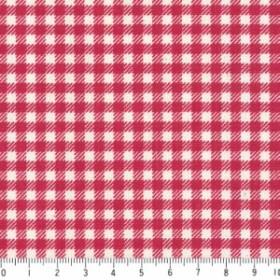 ギンガムチェック 3.5mm  3139-70 RED  レッド   3.5ミリ チェック柄 生地 綿 格子柄 布  綿100% 生成り