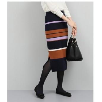 ROPE' / ロペ 【セットアップ対応】フルニードルタイトスカート(ボーダー)
