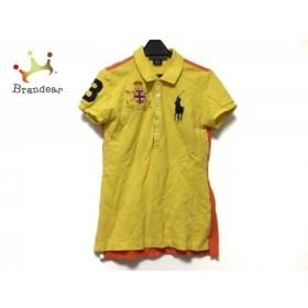 ラルフローレン RalphLauren 半袖ポロシャツ サイズM レディース イエロー×オレンジ×マルチ   スペシャル特価 20190724