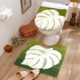 トイレマット幸運を呼ぶトイレマット・O/U&温水洗浄兼用フタカバー(マット単品・セット) 「グリーン」,179) %>