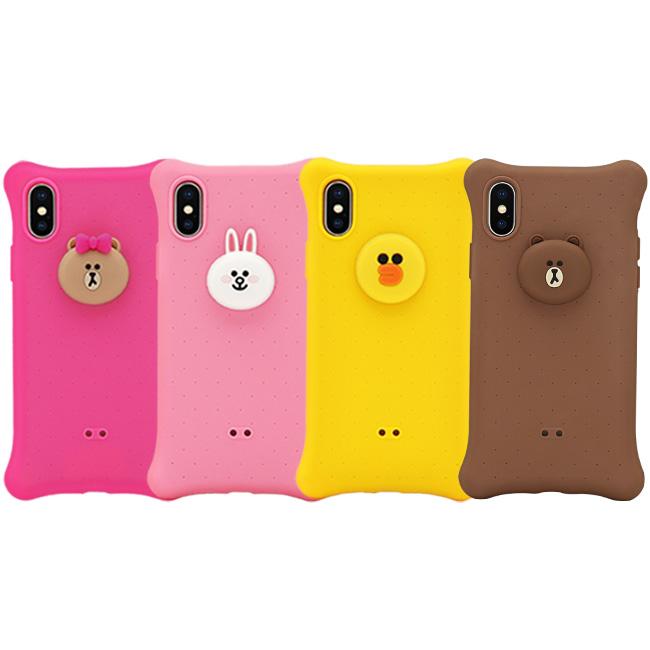 GARMMA LINE FRIENDS IPhone Xs Max 6.5 I7/8 Plus 四角氣囊果凍套