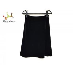 フォクシーニューヨーク スカート サイズ40 M レディース 美品 黒 ベロア/ウエストゴム      値下げ 20190924