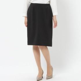 スーツ レディース おしゃれ エアリーヘリンボン素材台形スカート 「チャコール」