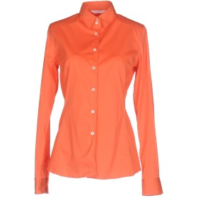《セール開催中》GUGLIELMINOTTI レディース シャツ オレンジ 38 コットン 70% / ナイロン 27% / ポリウレタン 3%