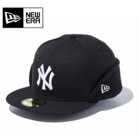 NEWERA ニューエラ 59FIFTY フリップダウン ウールツイル ニューヨーク・ヤンキース ブラック × スノーホワイト 11475044 【アウトドア/キャップ/メンズ】