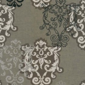 ダマスク柄 7940-mh M.H.collection classique     damask アラベスク  生地 布  綿100% 生成りオックス生地