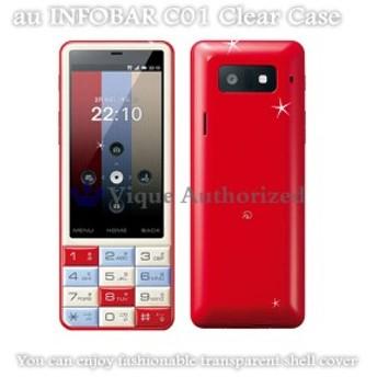 au INFOBAR C01ケースカバー透明クリアハードケース CLEAR CASE-C01