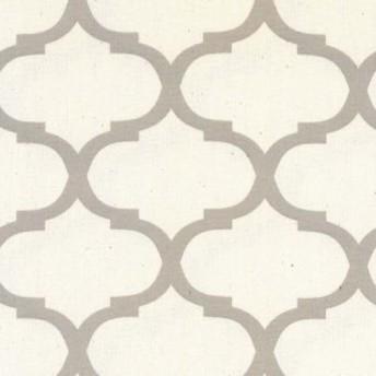 モロッカン柄 大8.5cmポジ 7432-44 GREGE グレージュ moroccan posi 8.5センチ 生地 布 生成り オックス